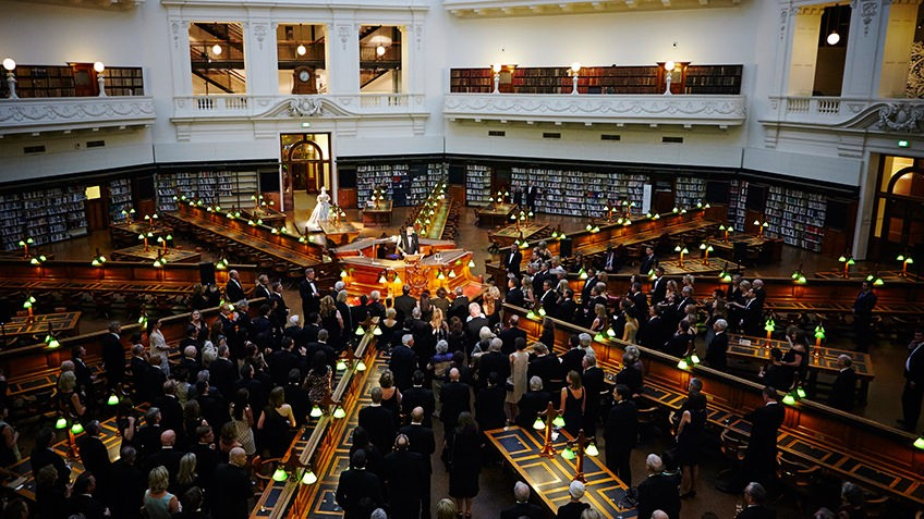 Photo of a special event in La Trobe reading room