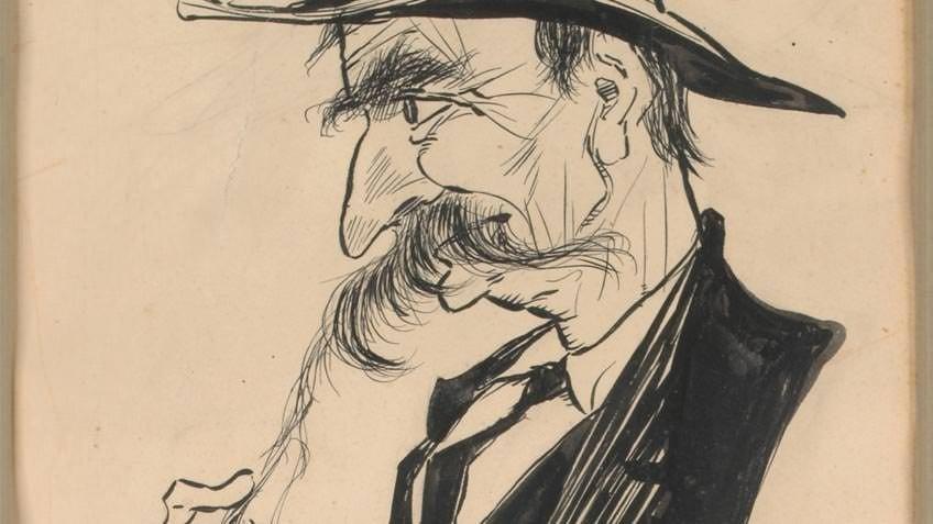 A cartoon of Henry Lawson by Dyson