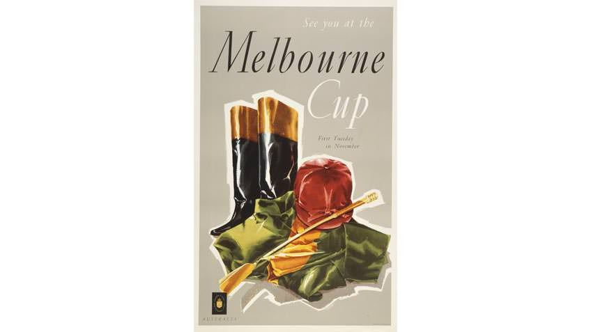 Melbourne Cup poster, 1950s