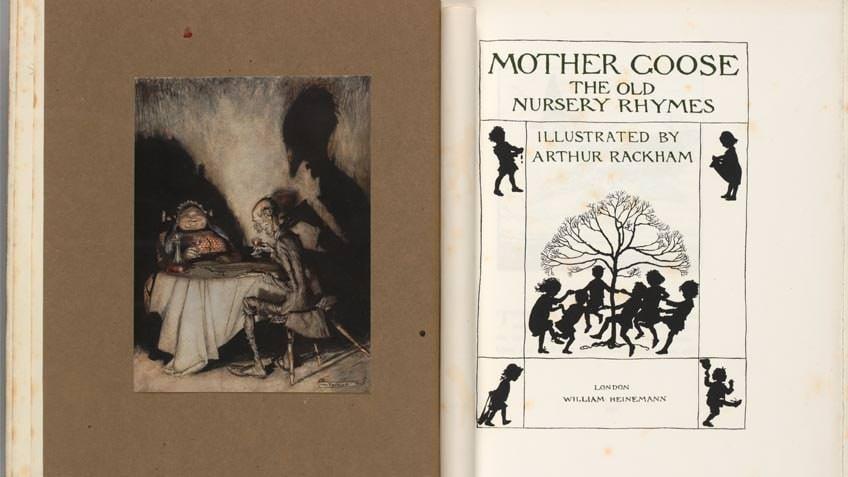 'Mother goose' book of nursery rhymes