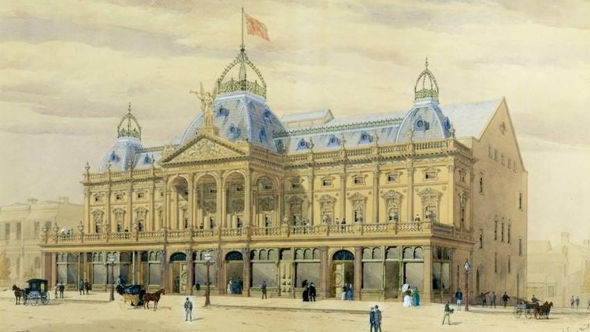 Princess Theatre, Melbourne, by William Pitt, c 1885