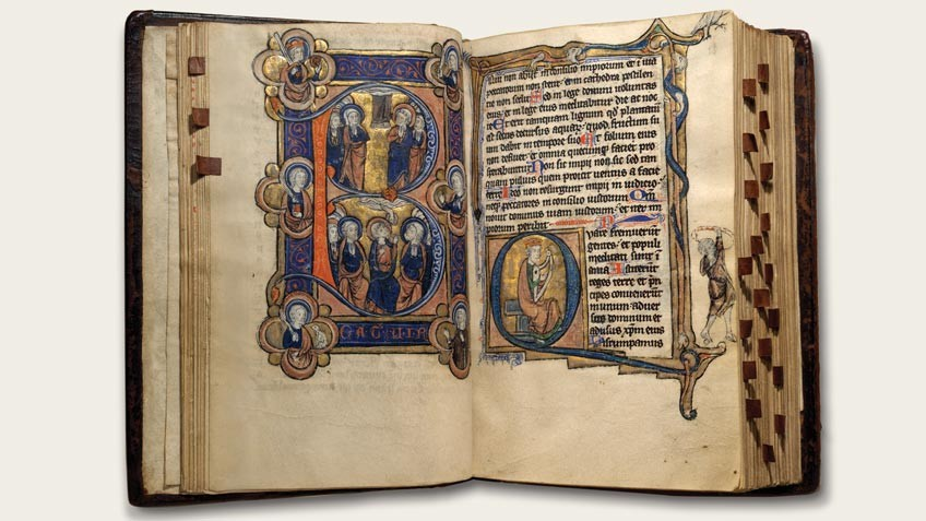 Double page of Psalter Hours