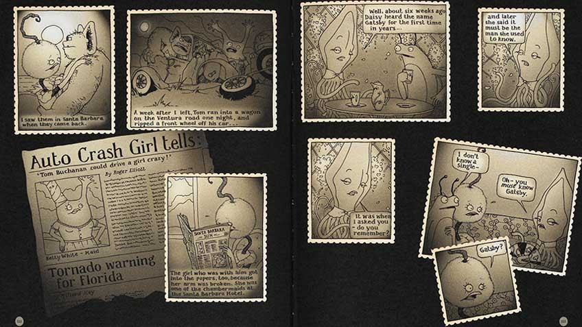 Spread taken from 'The great Gatsby', by Nicki Greenberg