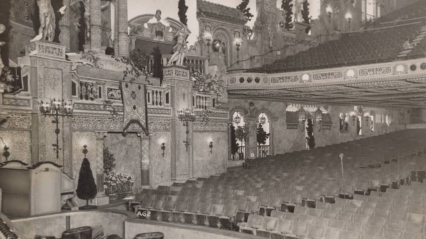 View from centre stage, State Theatre Melbourne, 1932