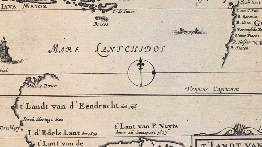 Incomplete Dutch map of Australia, 1649