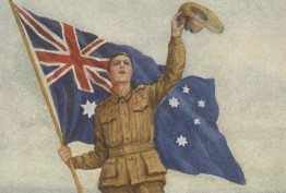 Postcard with call to arms: Australia for ever!