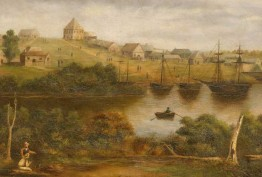 Melbourne from the south bank of the Yarra, 1840, Eleanor (Nellie) McGlinn, c 1875