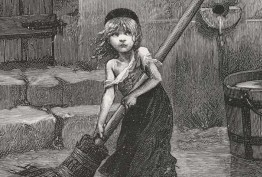 "Émile Bayard, 'Cosette', c 1886, in Victor Hugo, Les Misérables, London, 1887, State Library of Victoria"""