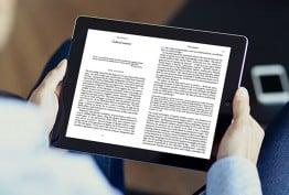 ebooks on a tablet