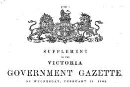 Victorian Government Gazette