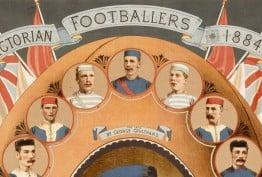 Victorian footballers, 1884, detail