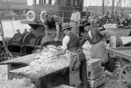 Fish Market corner Flinders and Spencer Streets Melbourne ca. 1940