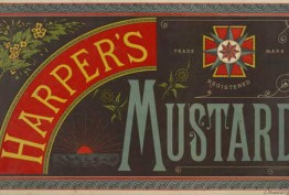 Advertisement for Harper's Mustard, 1880s