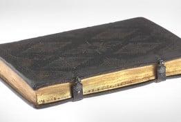 leatherbound gilt-edged book