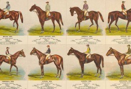 Detail from Melbourne Cup Winners Australia by GL Whiteley 1902