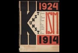 Die Kunstismen 1914–24, by El Lissitzky and Hans Arp