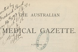 sepia journal cover with the title in capitals and 'presented by Dr Frederick Lloyd' in handwriting