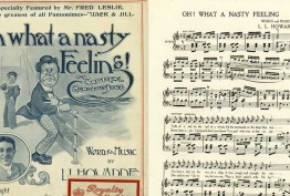 Words and music for 'Oh! what a nasty feeling', the original sea sick song