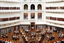 Interior view of the LaTrobe Reading Room