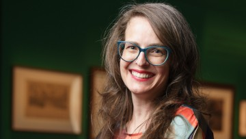 Carolyn Fraser lead curator of Velvet, Iron, Ashes exhibition