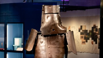 Ned Kelly's suit of armour made from thick sheets of iron