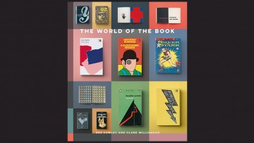 black background with book cover featuring covers of a number of books