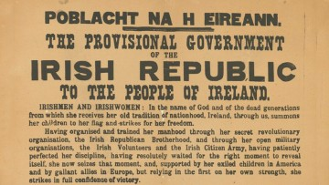 Proclamation of the Irish Republic (Dublin, 1917 facsimile of 1916 original), State Library Victoria