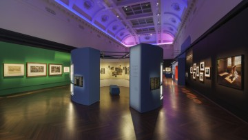 An exhibition in an elegant heritage space