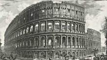 Piranesi etching of Rome's colosseum ruin