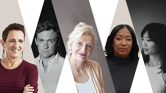 Portraits of five authors