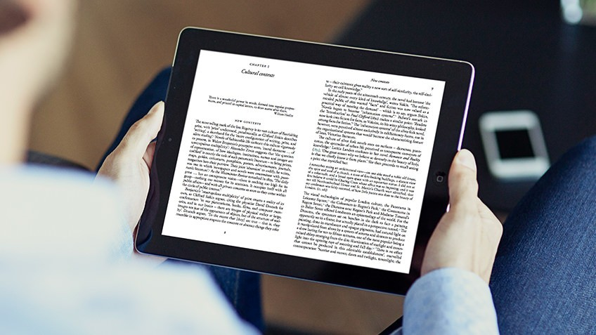 ebooks on a tablet