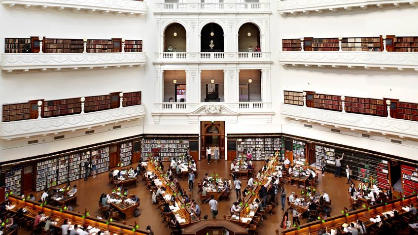 Interior view of the LaTrobe Reading Room
