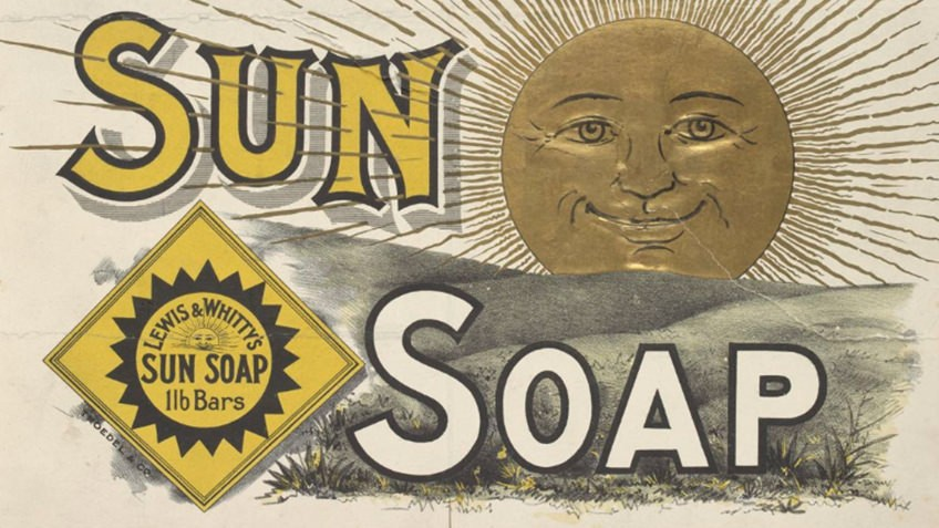Sun Soap illustration with smiling sun