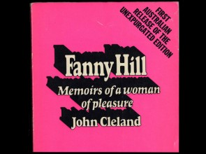 Cover of first Australian edition of Fanny Hill: memoirs of a woman of pleasure in hot pink