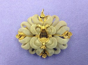 Mourning brooch of Anne Drysdale, c1853