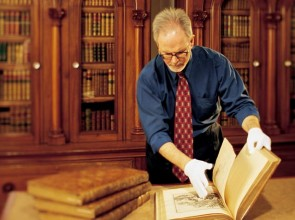 Examining rare books