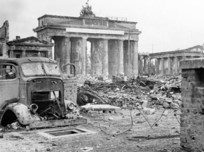 Wartime devastation around Brandenburg Gate, Berlin