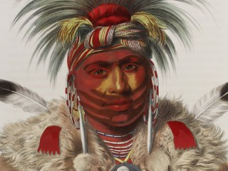 Native American chief in traditional dress