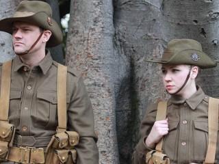 Roadshow actors in WWI uniform