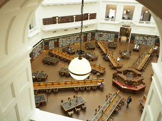 Photograph of La Trobe Reading Room from above