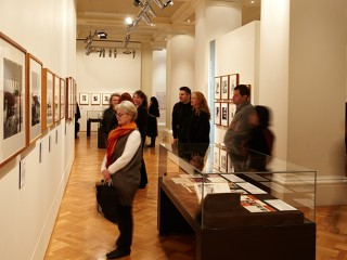 Visitors in a gallery