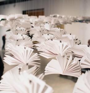 Paper art instillation