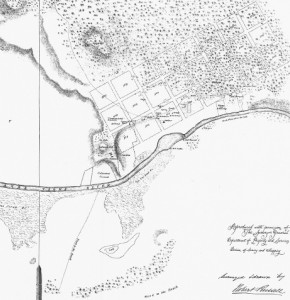map of Melbourne in 1837