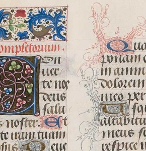 Detail from a book of hours, Bruges, c 1480