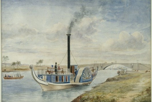 Paddlesteam boat on the river