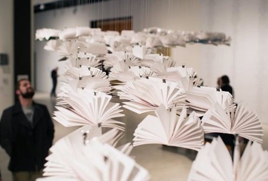 Paper art instillation