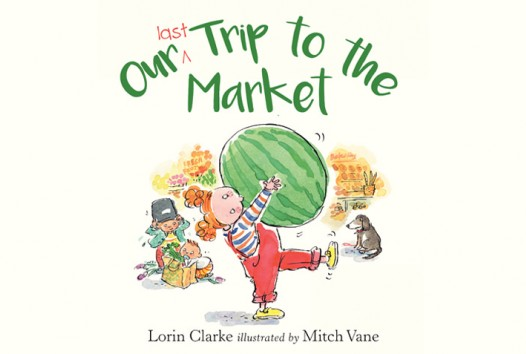 Book cover shows child carrying large watermelon