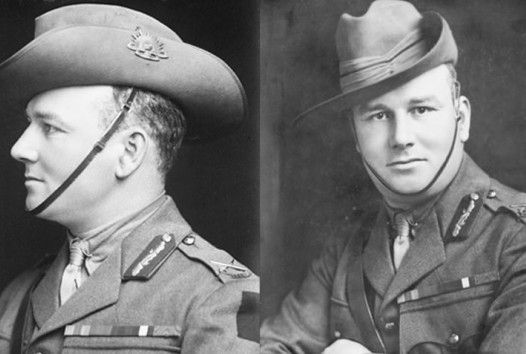 World War I portraits of soldier, profile and front on
