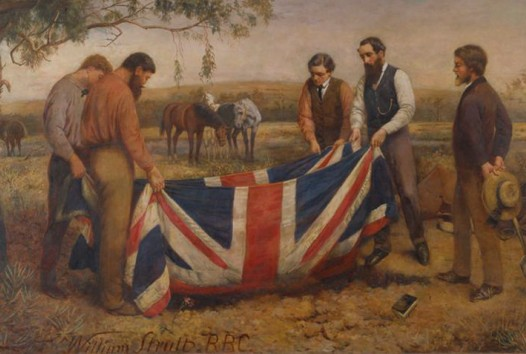 Explorer Robert O'Hara Burke is buried with the Union Jack as his shroud