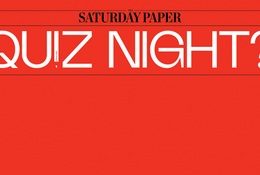 Saturday Paper quiz night branding